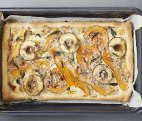 GORGONZOLA, PEACH AND BUTTERNUT TART