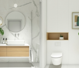 Small but stylish bathroom spaces