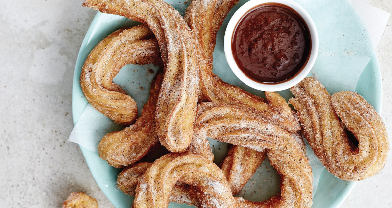 CHURROS WITH CHOCOLATE ESPRESSO SAUCE