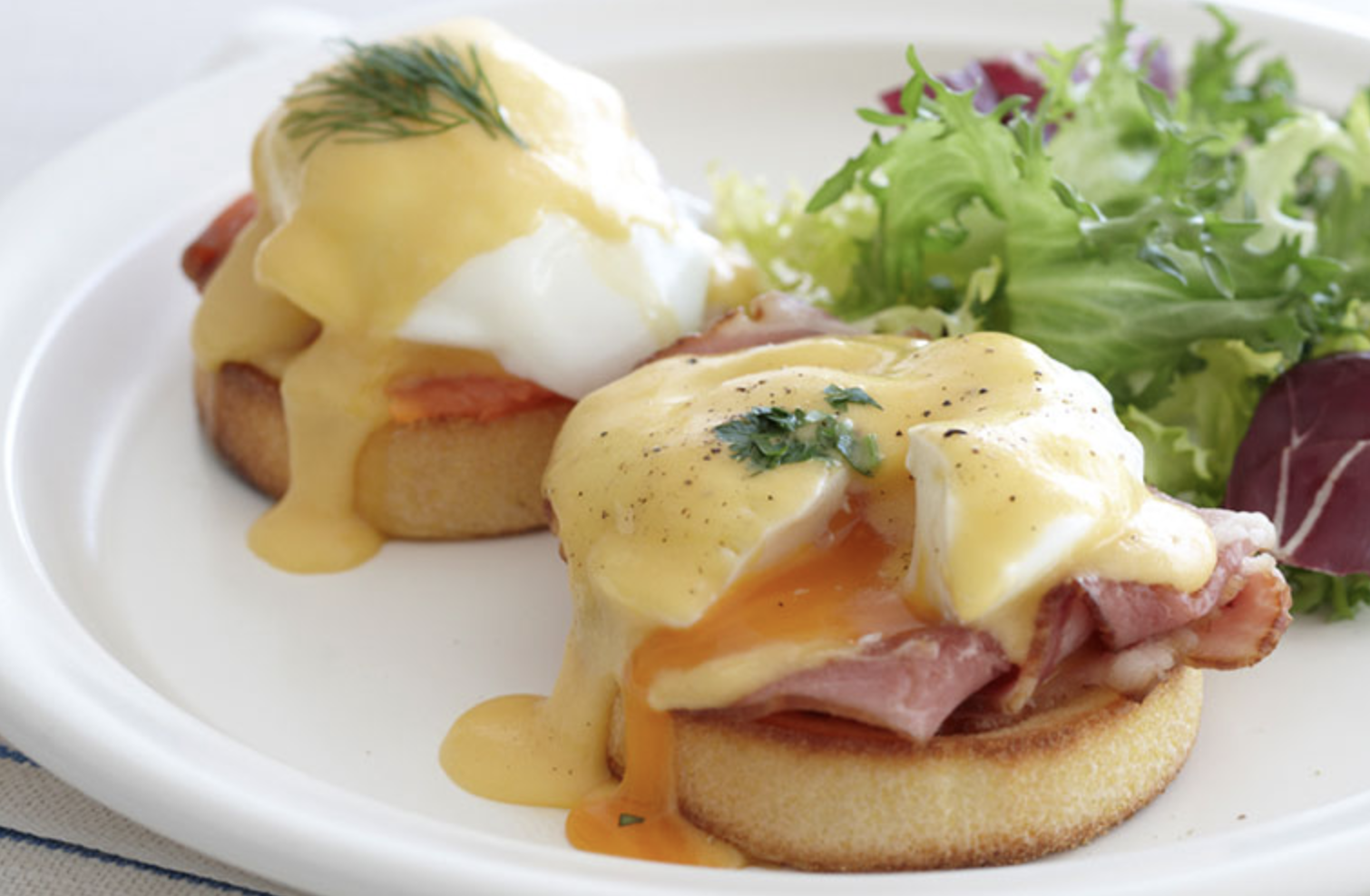 FROACHED EGGS BENEDICT OR FLORENTINE